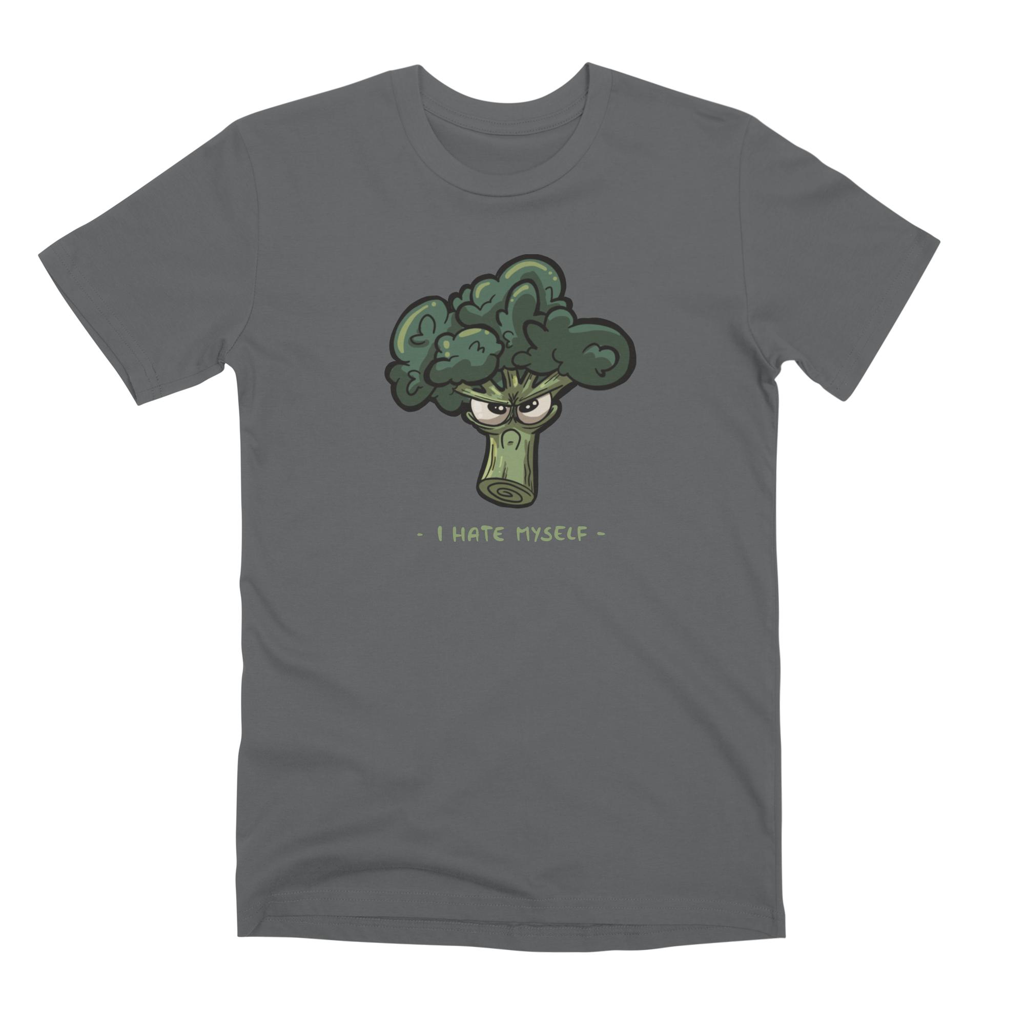 T-Shirt mit grummeligem Brokkoli