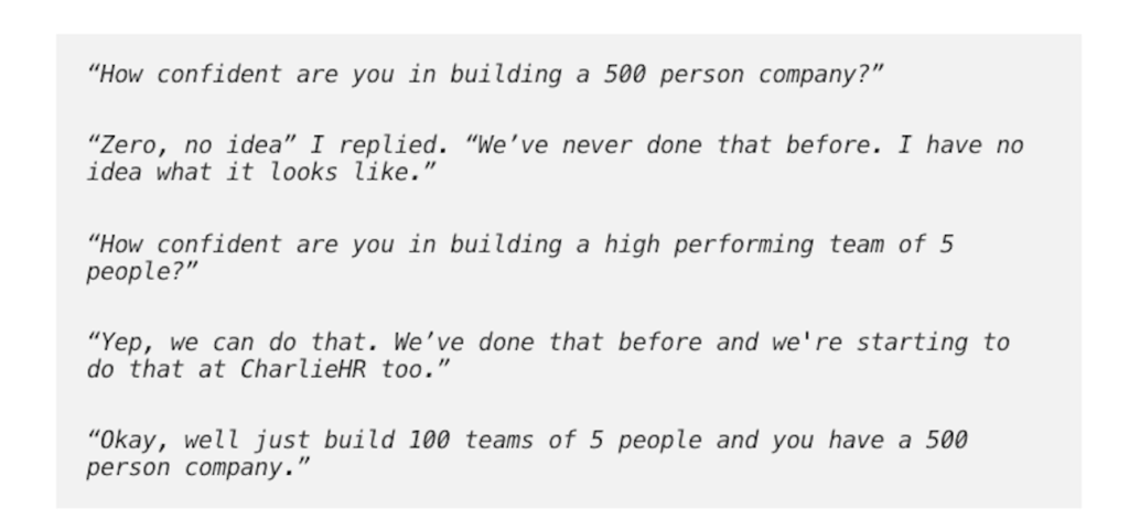 Conversion about functional teams.