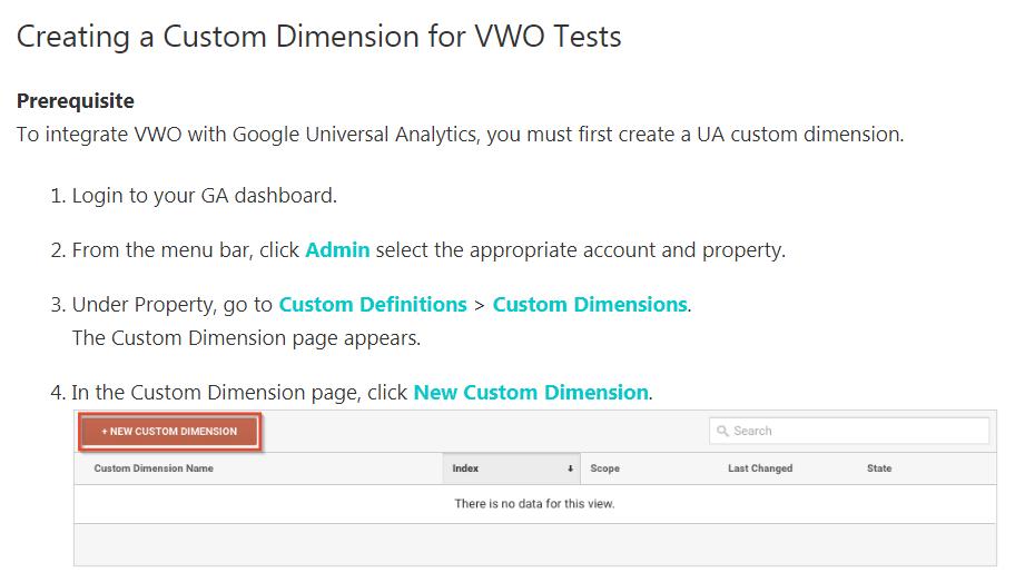 vwo's documentation on setting up segments in google analytics.