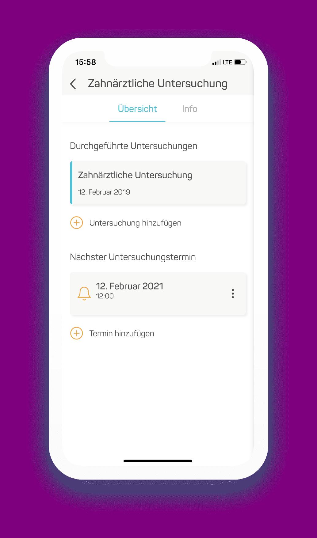 Vorsorgeuntersuchung App