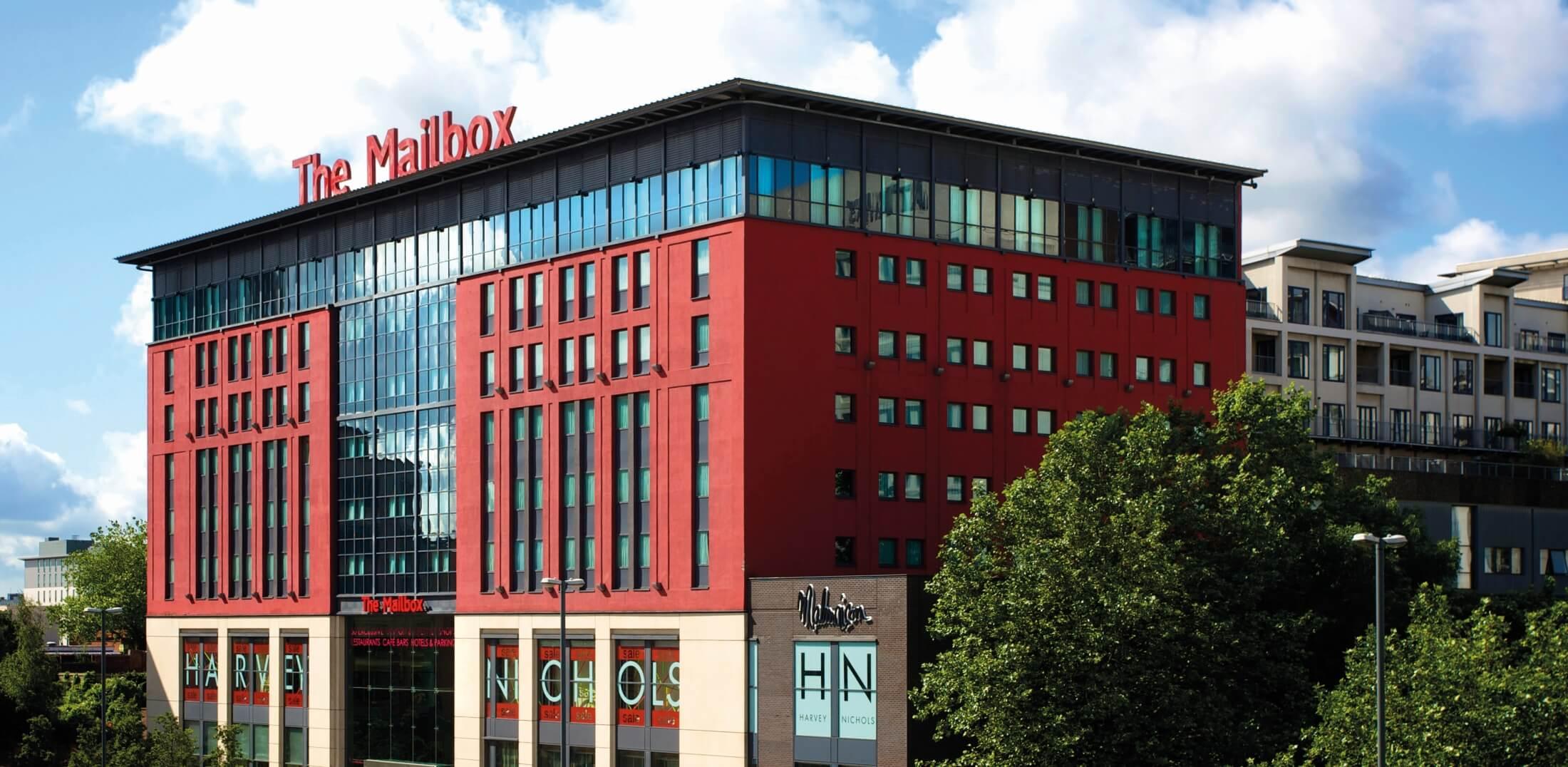 The Mailbox building located in Birmingham
