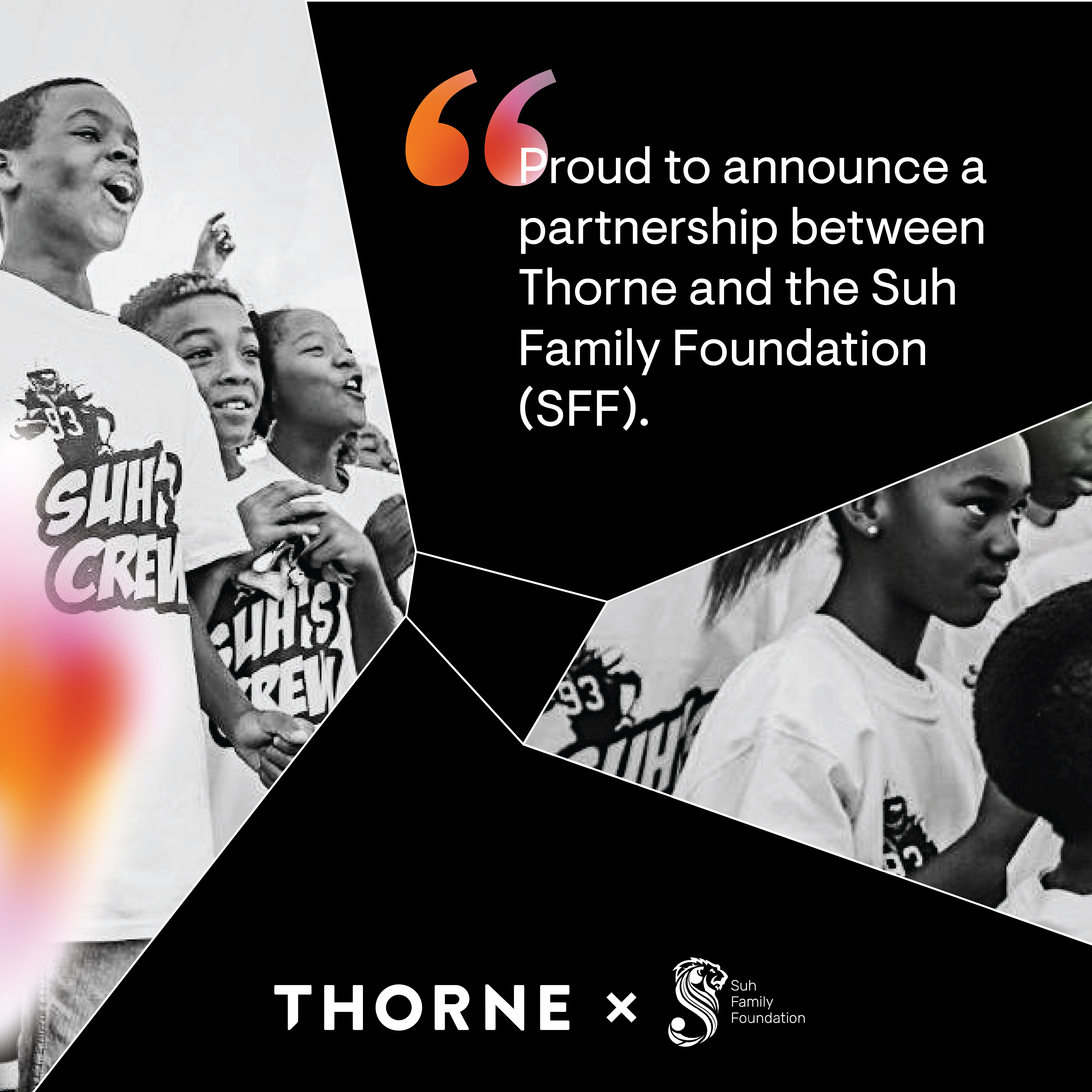 Thorne and Suh partnership announcement