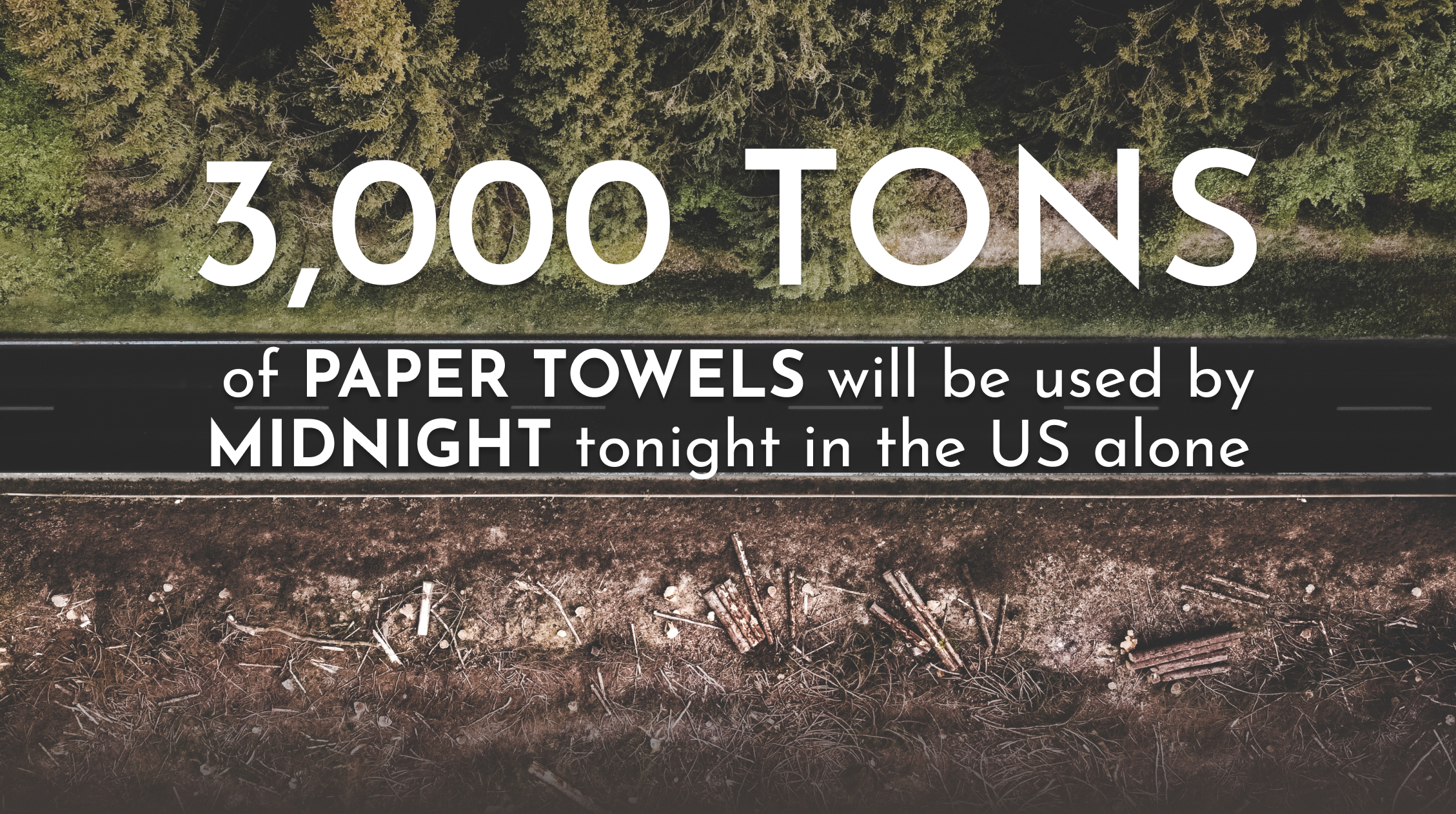 3,000 Tons of paper towels will be used by midnight tonight in the U.S. alone.