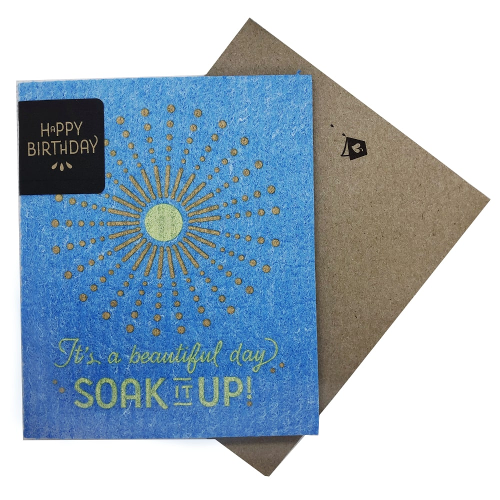 Greeting Card - It's a Beautiful Day—Soak iT Up (greetings that clean up)