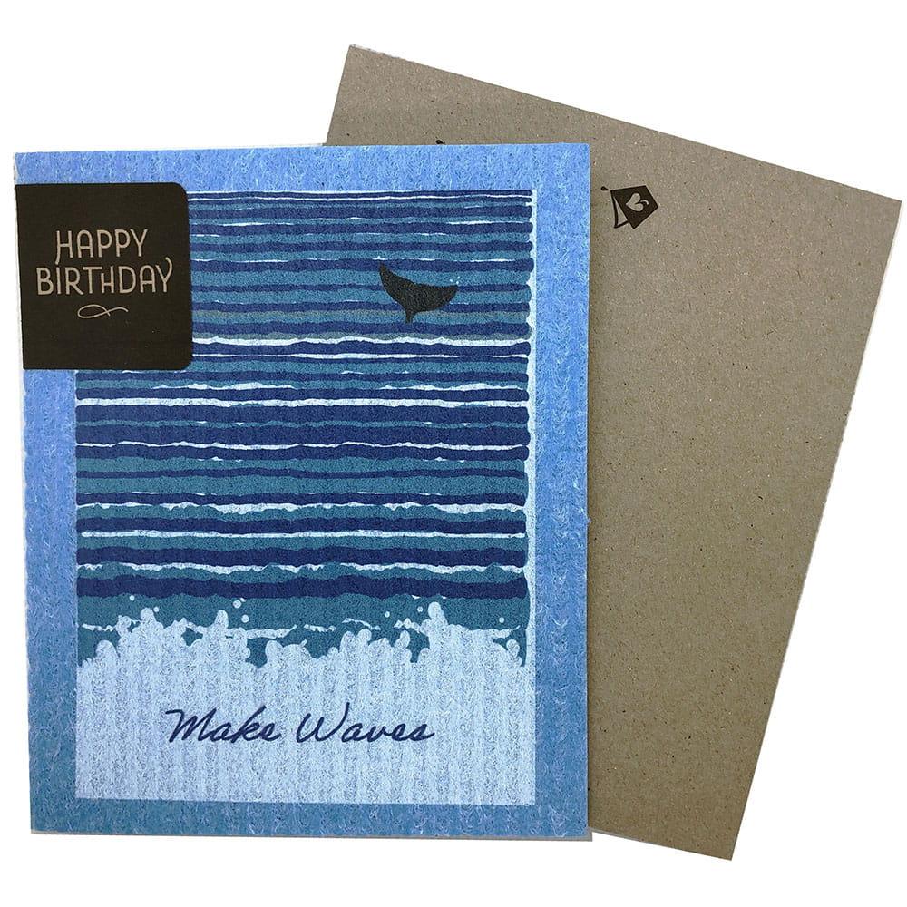 Greeting Card - Make Waves (greetings that clean up)
