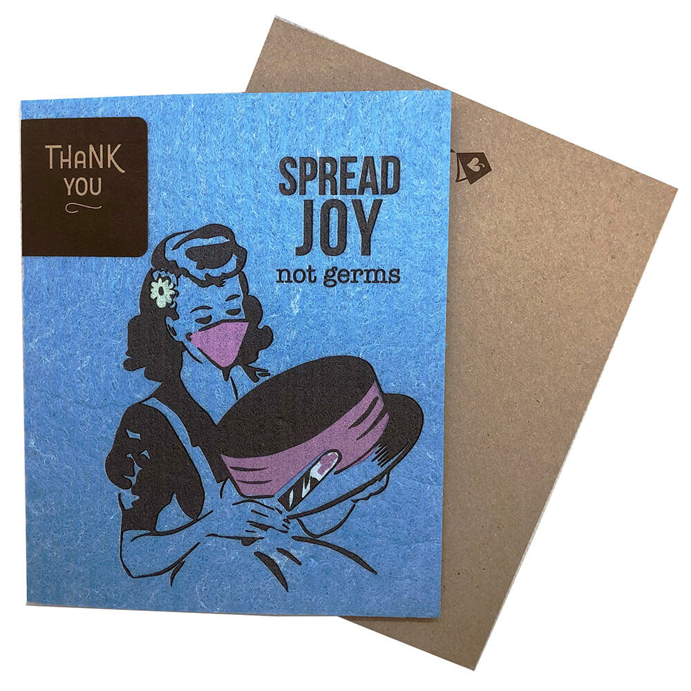 Greeting Card - Spread Joy Not Germs Vintage Cake Decorating