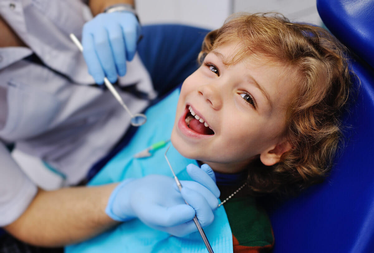Child at Tigard dentist