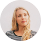 female blonde influencer headshot
