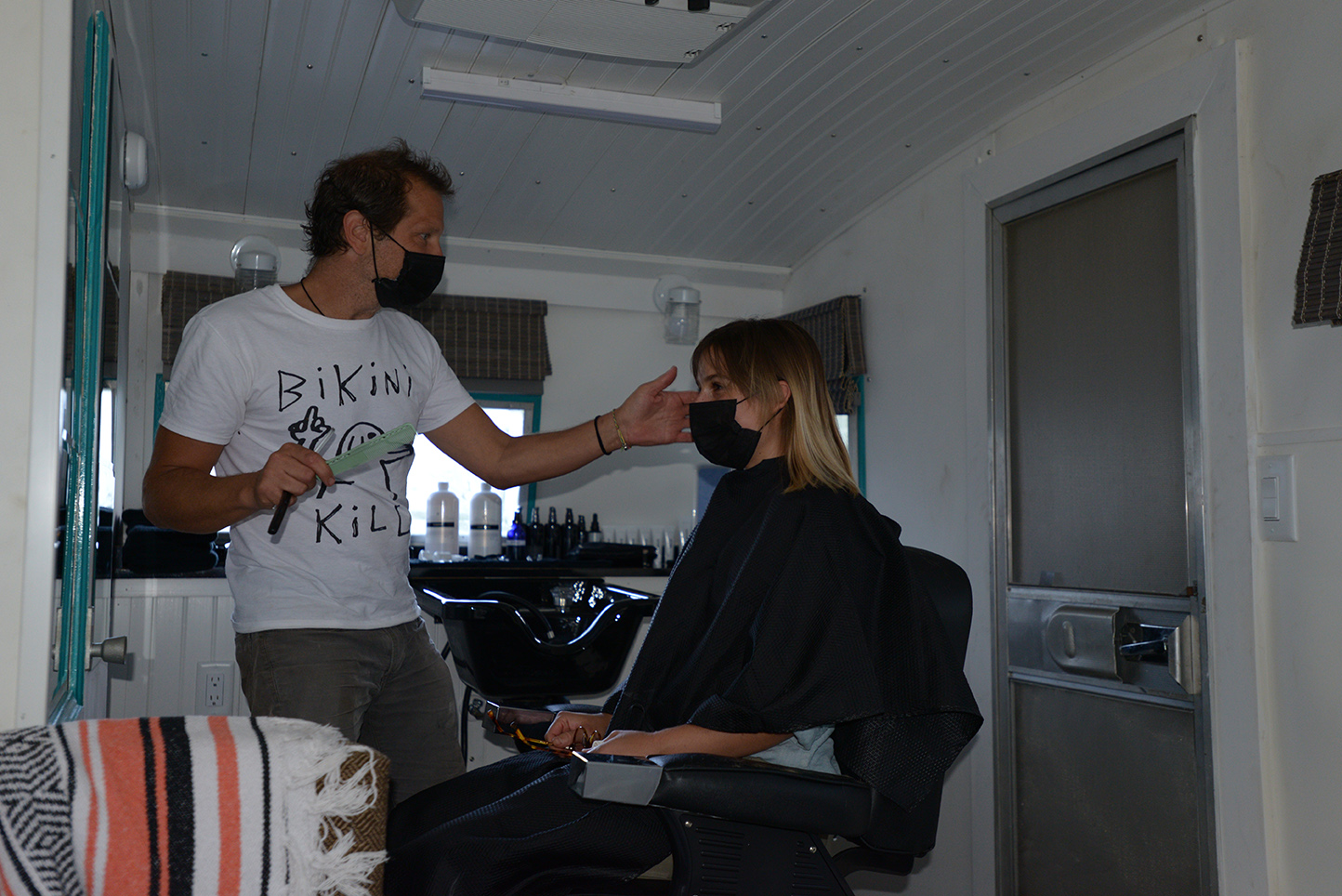 Dennis Devoy haircut on the shasta