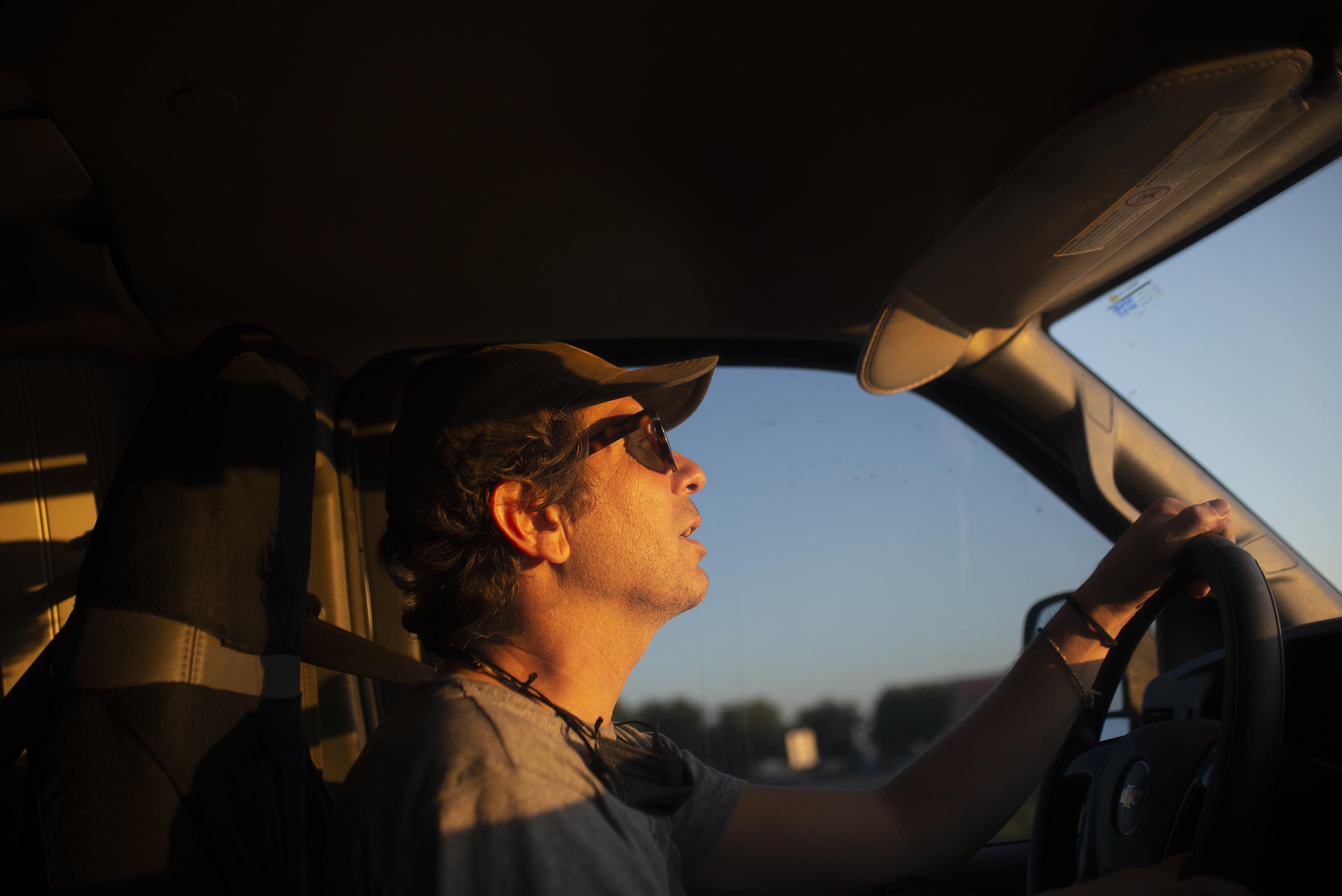 Dennis Devoy driving