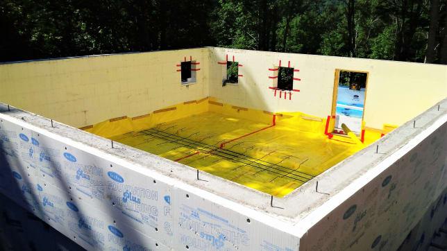 """ICF basement with 4"""" extra insulation on outside Wayne Groszko"""