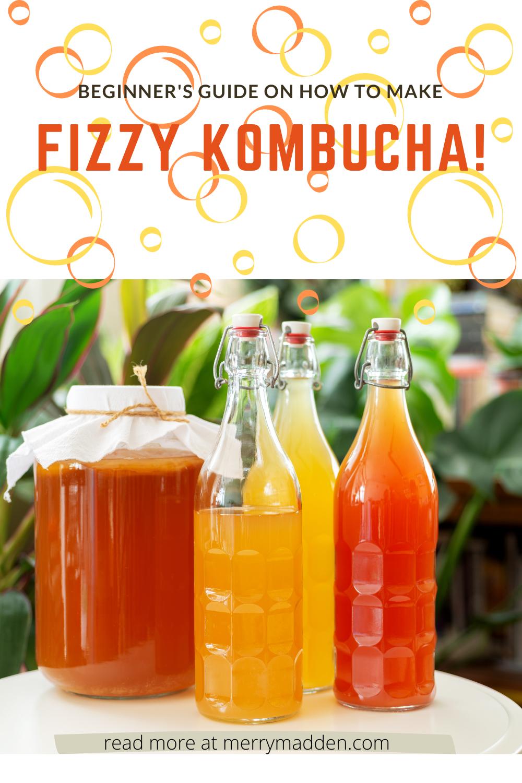 how to make fizzy kombucha