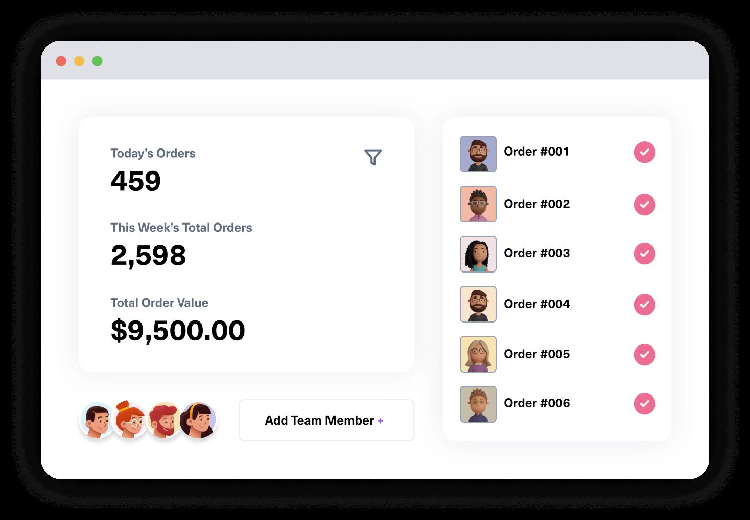 Creative layer screen dashboard