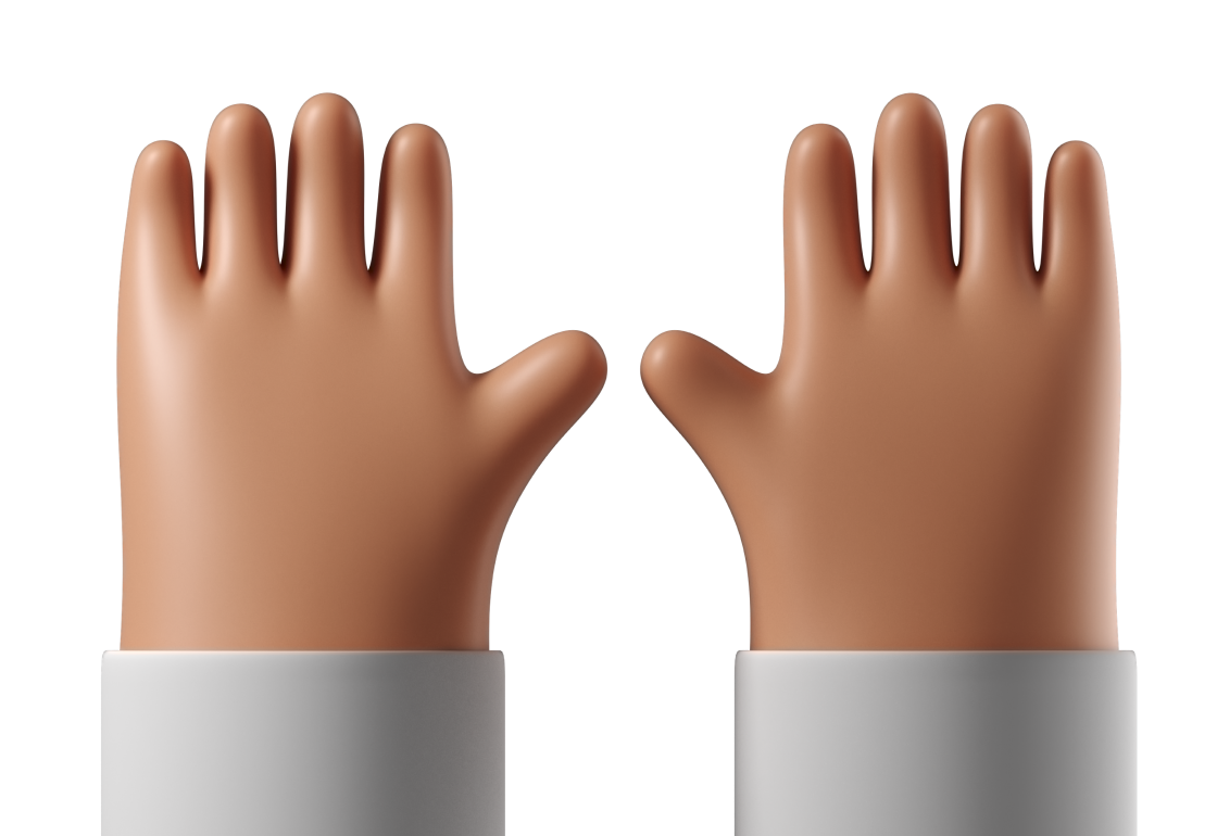Illustration of two hands raised