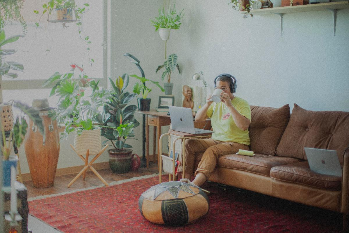 Myisa Planq-Graham, Lead Director, Videographer and Editor for UNCODE, works from home.