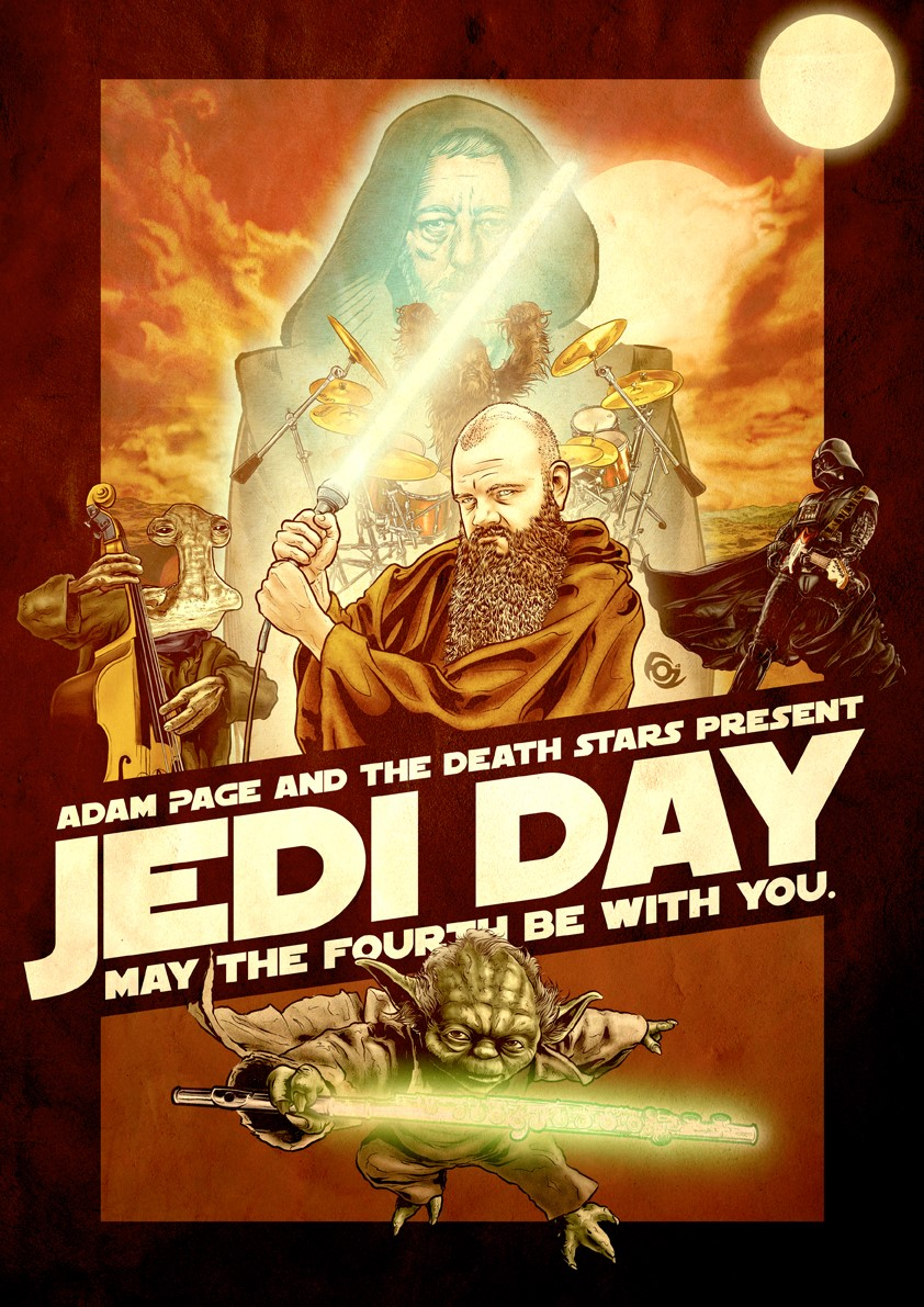 This Jedi Day Adam Page presents his legendary Star Wars Tribute show with an ALL STAR Adelaide lineup on Tuesday May the 4th at The Lab.
