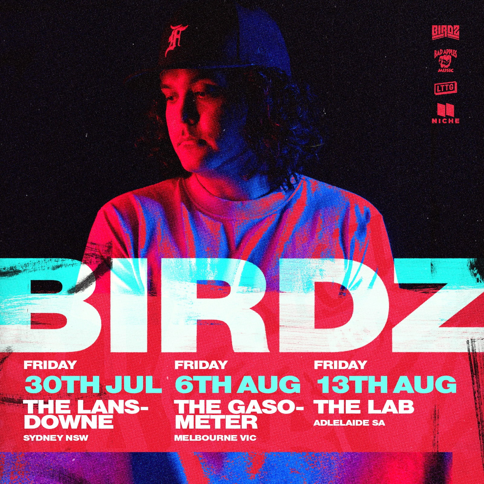 Raised in Katherine N.T. and based in Melbourne, as a proud Butchulla man, Birdz is renowned for his unique brand of hard-hitting hip-hop embodying strong messages of hope and self-determination.