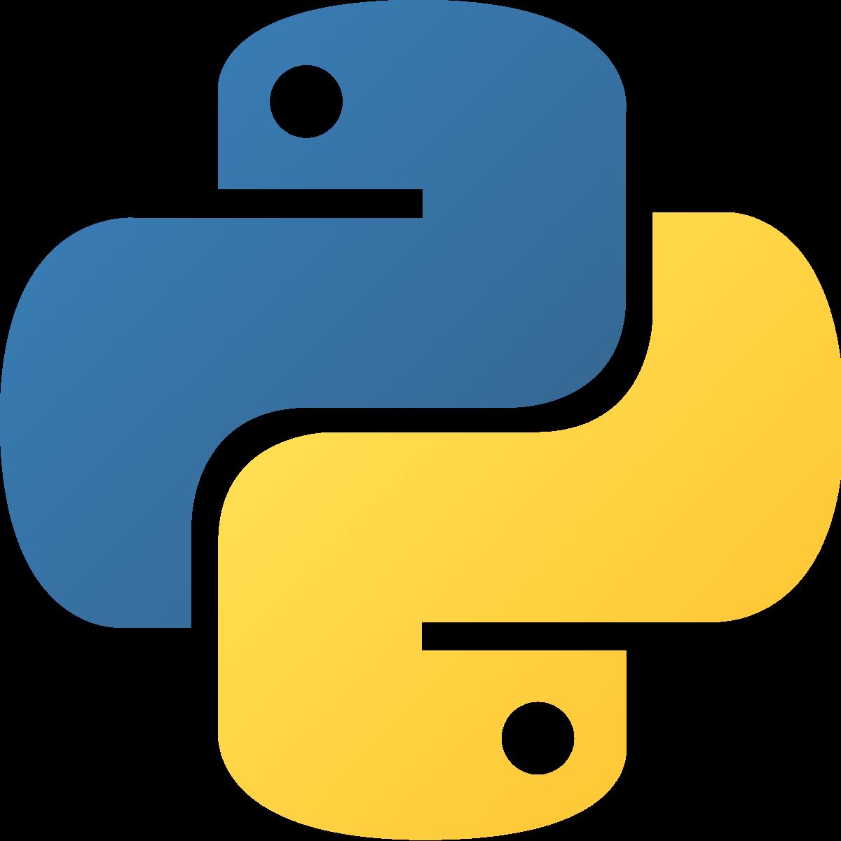 Logo of the Language Python.