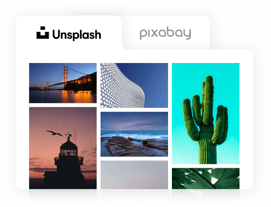 Add images directly from stock photo sites with Qwary. A feature not supported by Qualtrics.