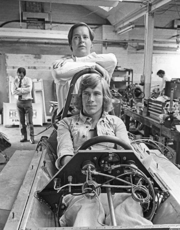 Lord Alexander Hesketh of F1 Team, Hesketh Racing, with James Hunt