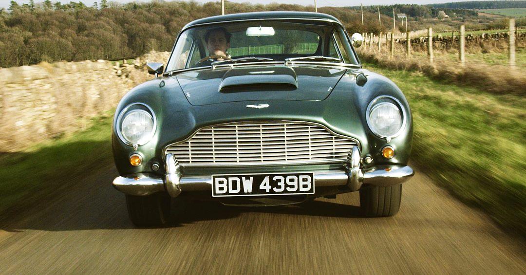 Ben Mather driving Aston Martin DB5