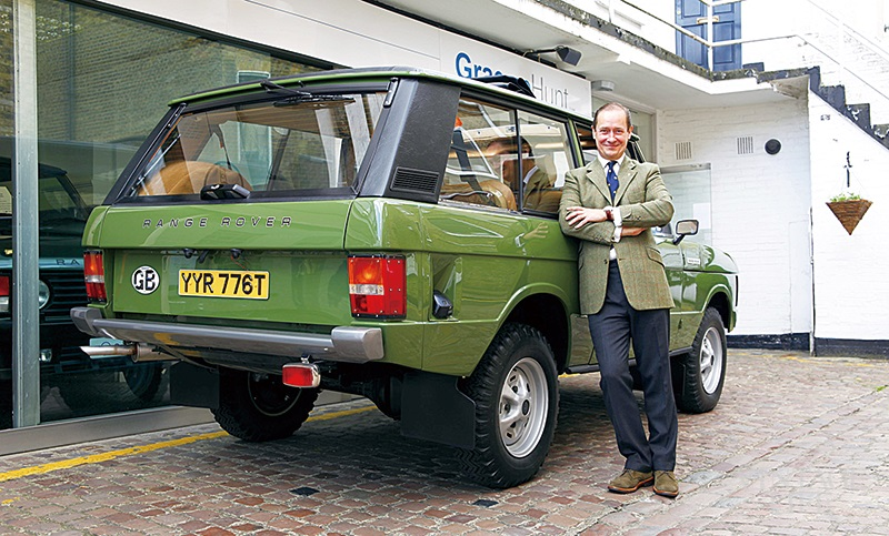Graeme Hunt with Range Rover Classic.