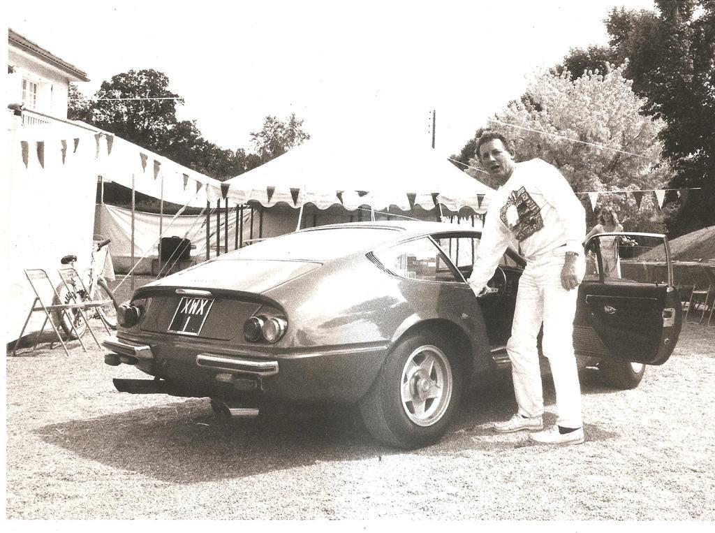 Michael Scott with Ferrari Daytona.