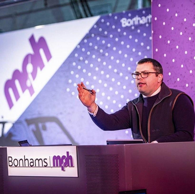 Rob Hubbard at rostrum during Bonhams MPH sale.