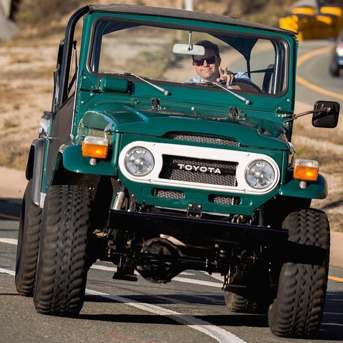 Randy Nonnenberg driving Jeep