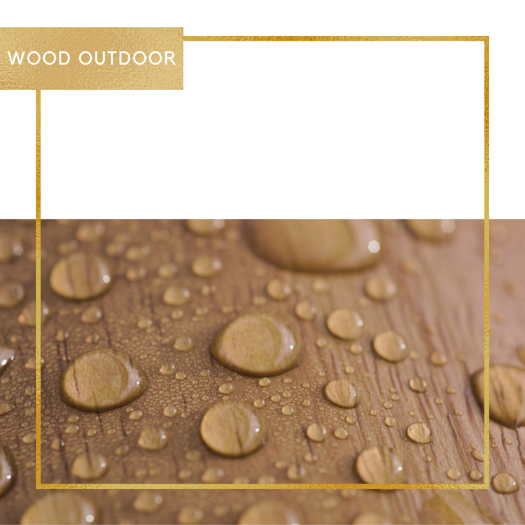 Bescherm uw hout buitenshuis van oneven verkleuringen door de regen en UV straling.