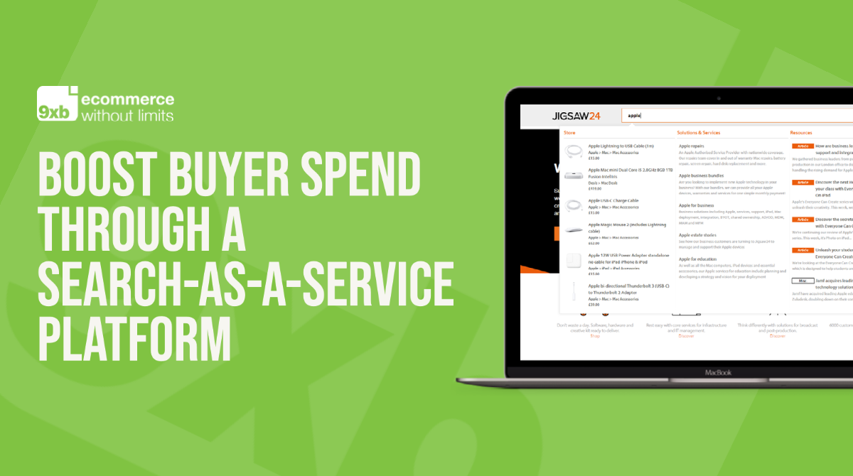 Boost buyer spend through a Search-as-a-Service platform