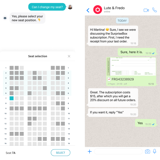 WhatsApp Chatbot for airlines
