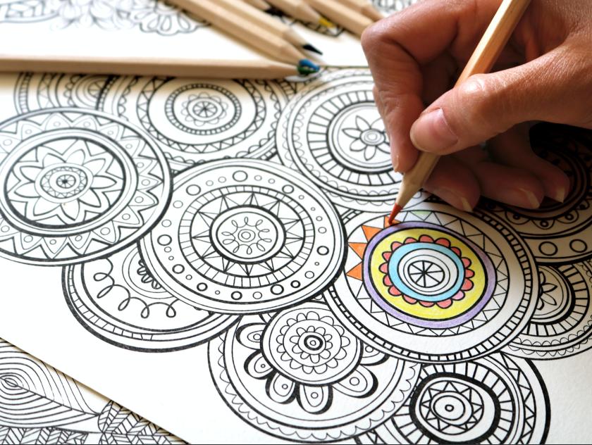 Coloriage inspiration Mandala