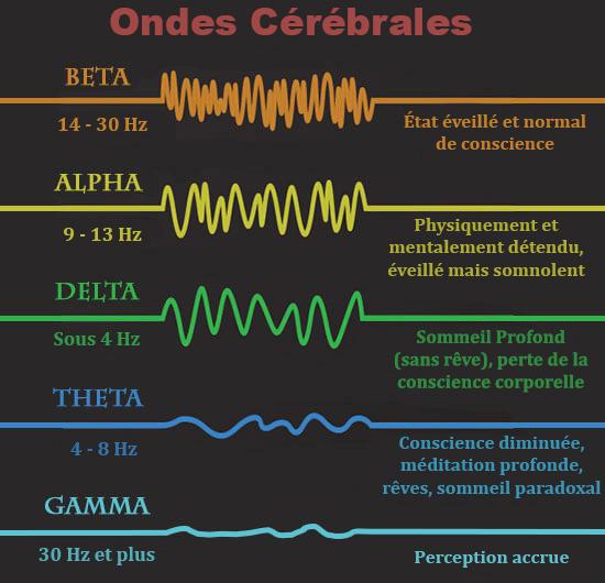 Représentation des ondes cérébrales