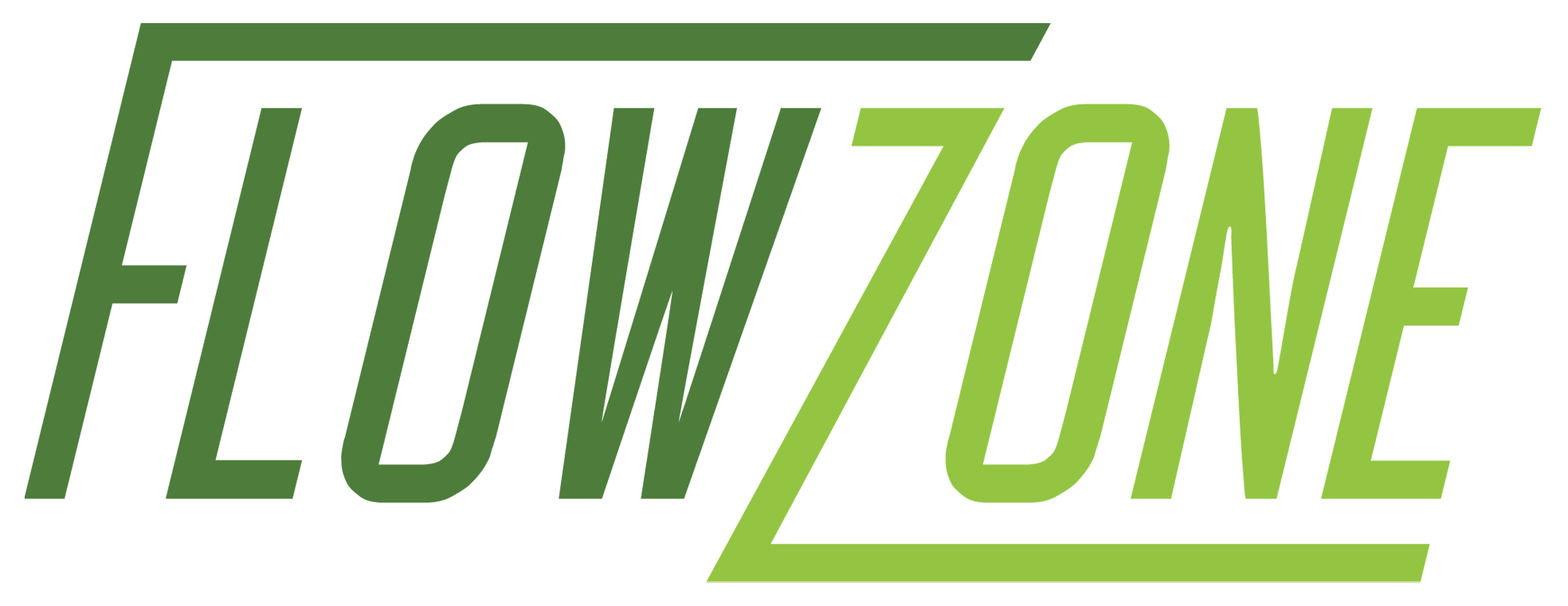 FlowZone logo with white border