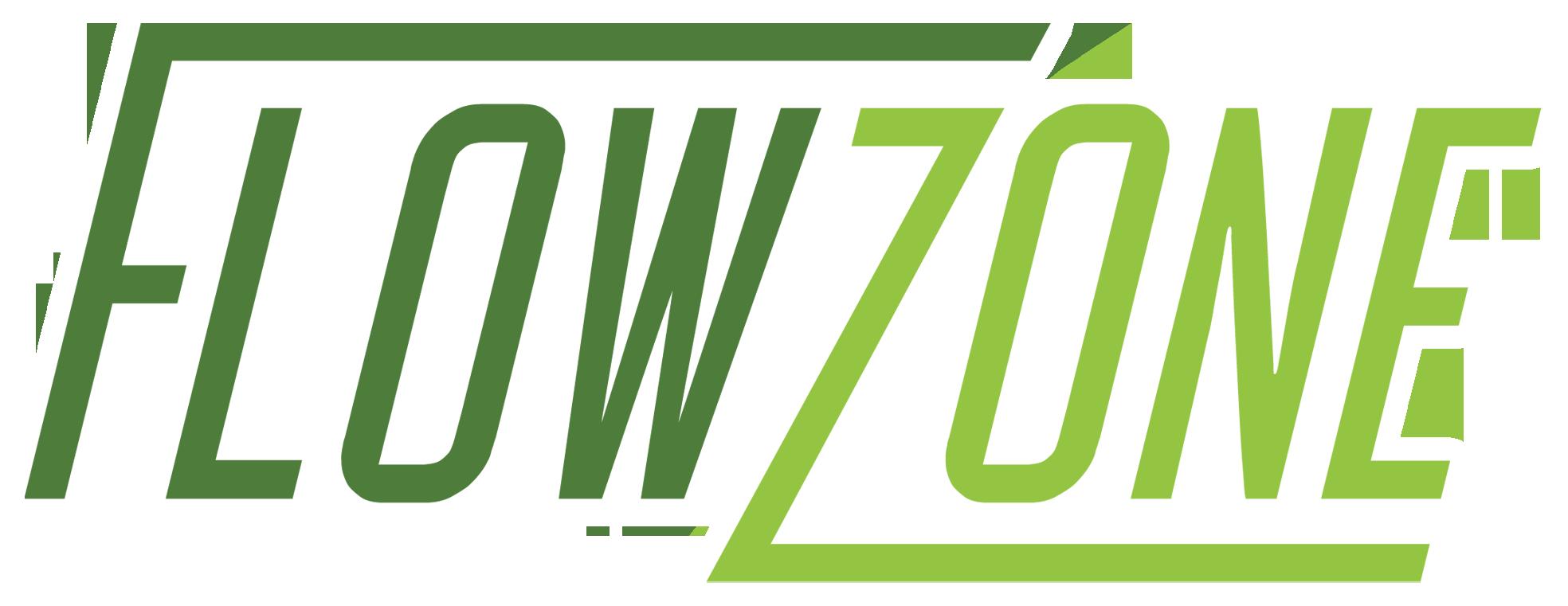 FlowZone logo with white border