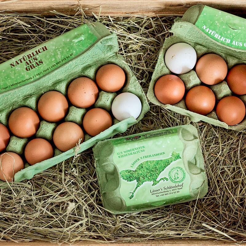 Bild von Eierschachteln mit Eiern