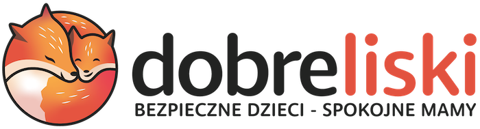 Logotyp logo sklepu internetowego z zabawkami i wyprawkądobre liski