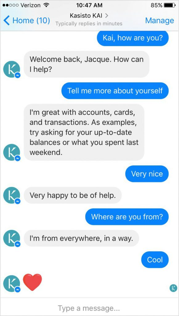 example successful chatbot on facebook messenger