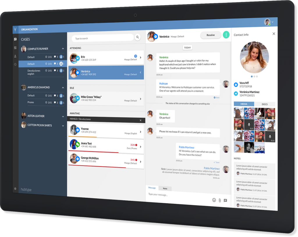 customer communication platform dashboard
