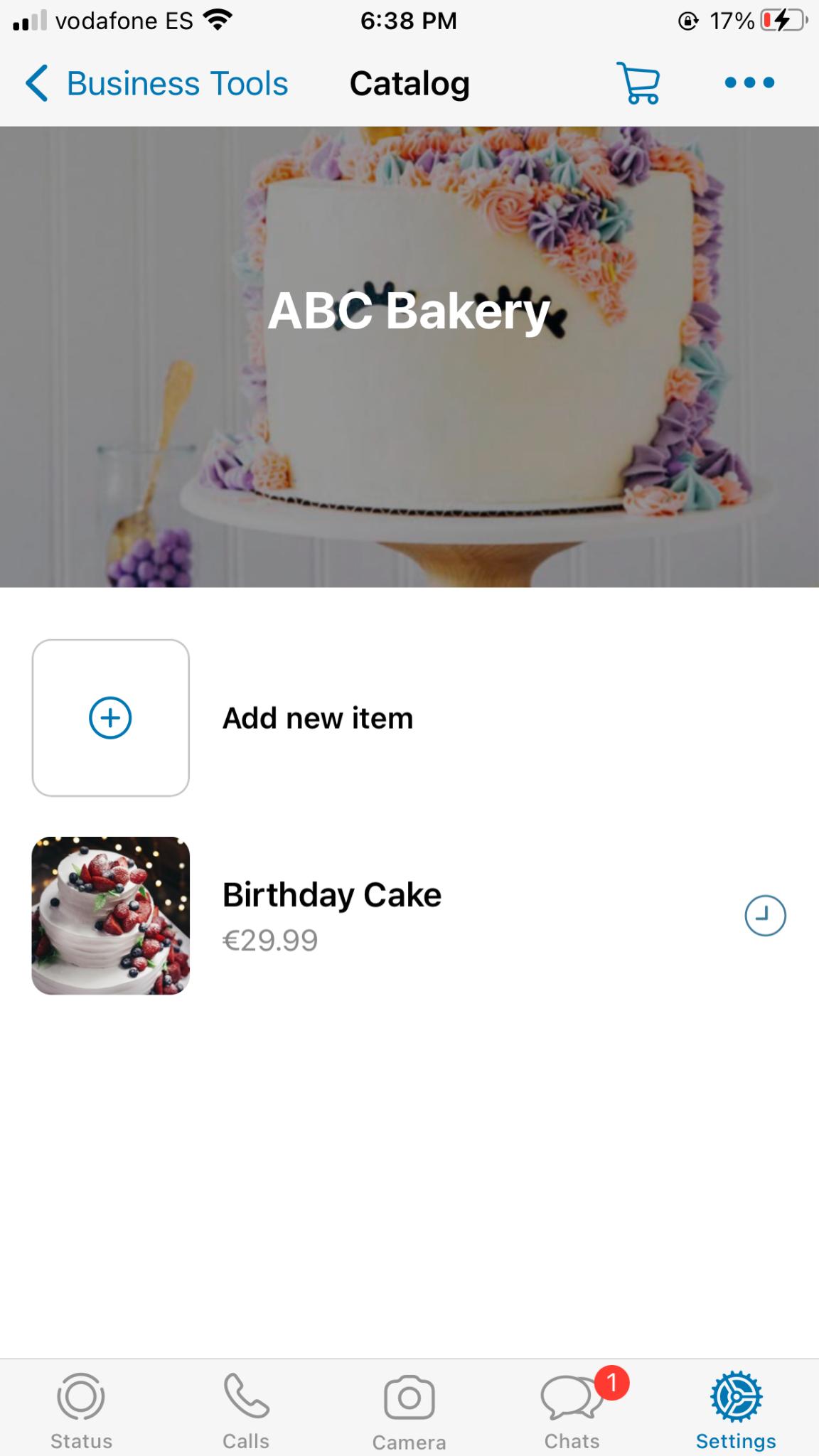 whatsapp business profile catalog