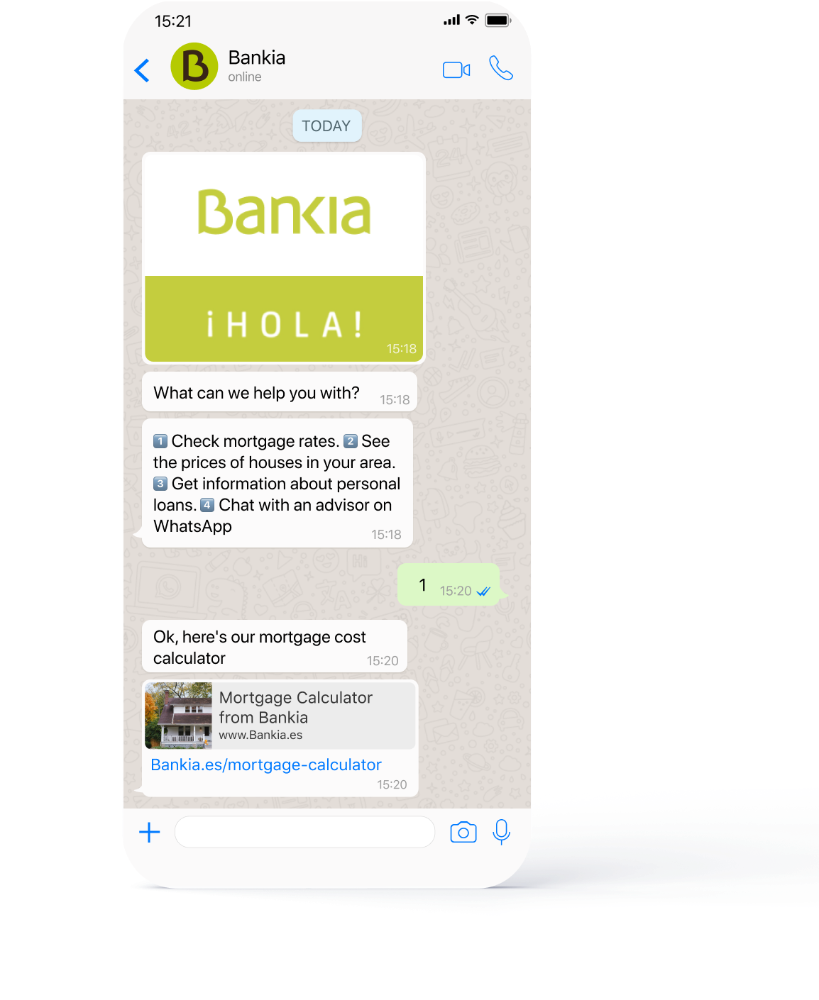 bankia whatsapp cx customer experience