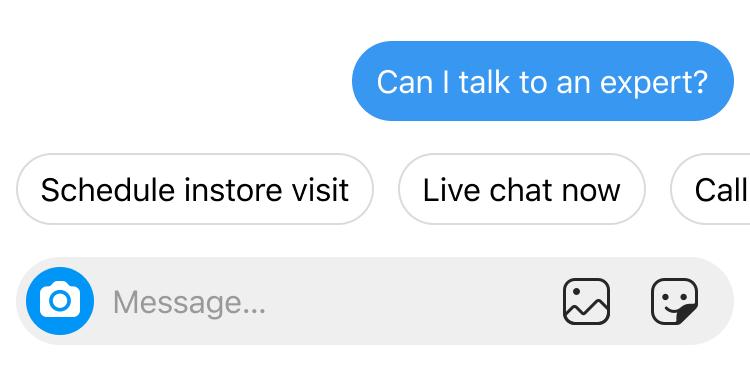 quick replies through instagram messenger api
