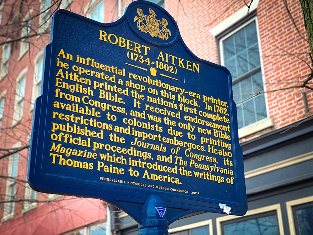 Robert Aitken Historical Marker