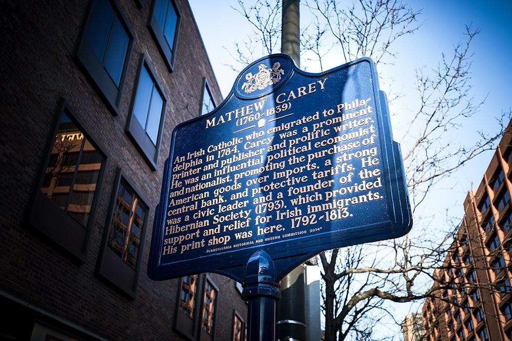 Matthew Carey Historical Marker