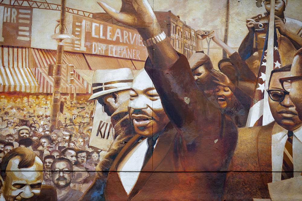 """""""MLK at Lancaster"""" Mural"""
