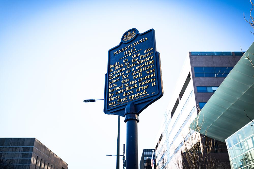 Pennsylvania Hall Historical Marker