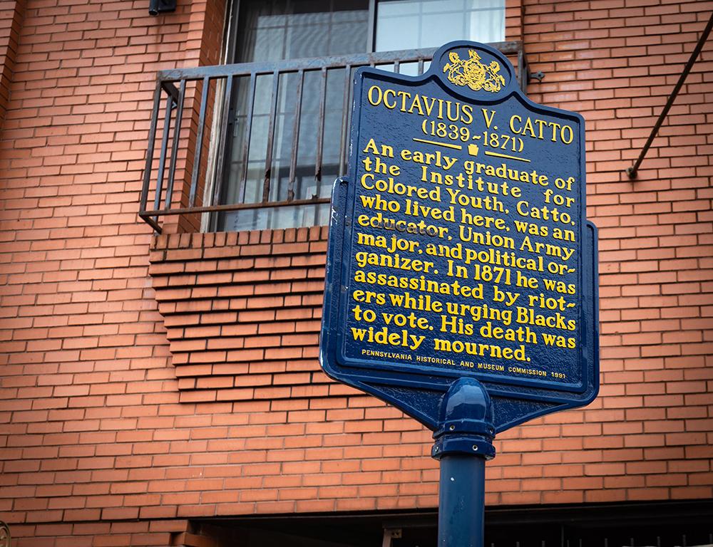Octavius V. Catto Historical Marker