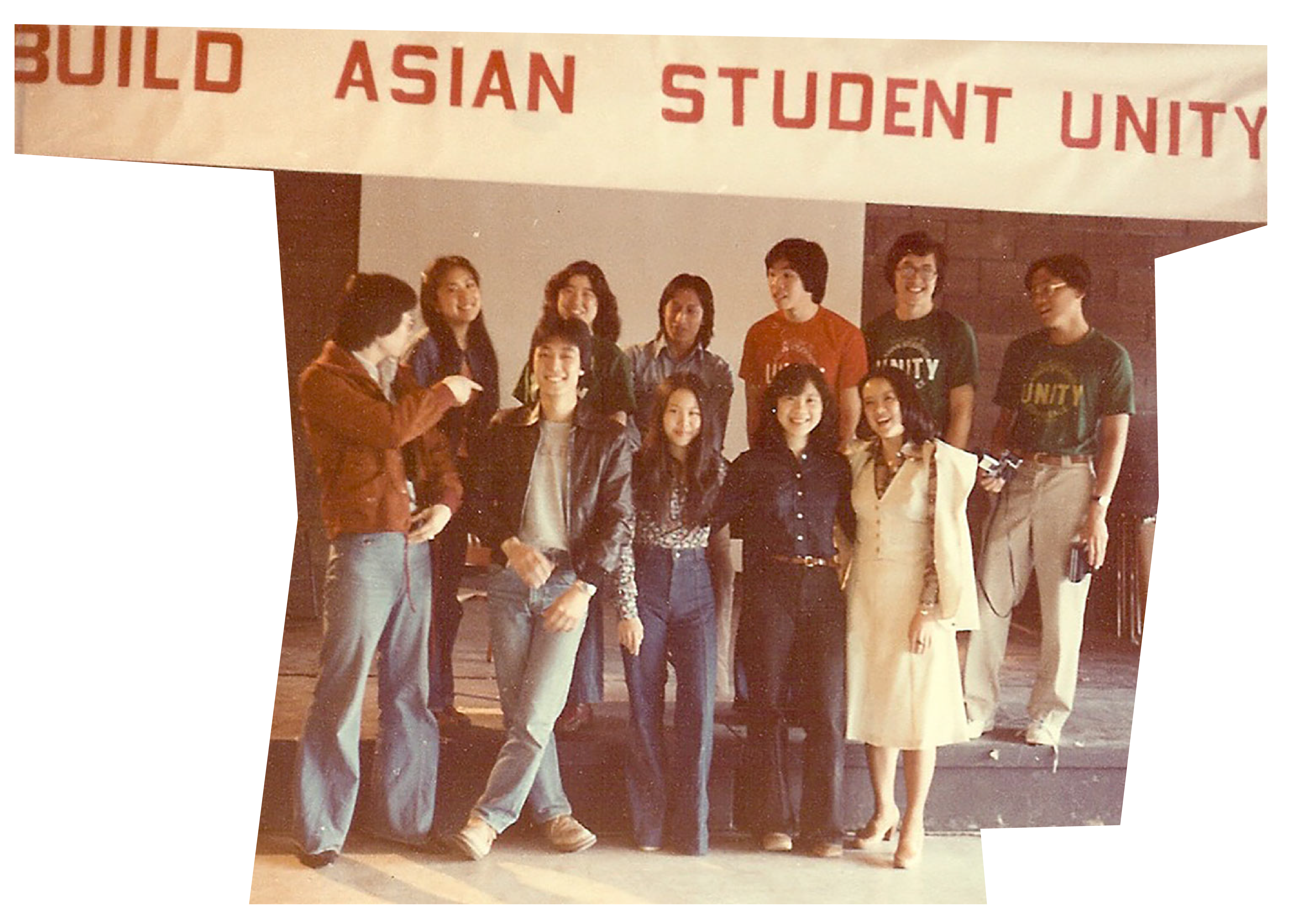Group posing at a conference for Asian students in 1978.