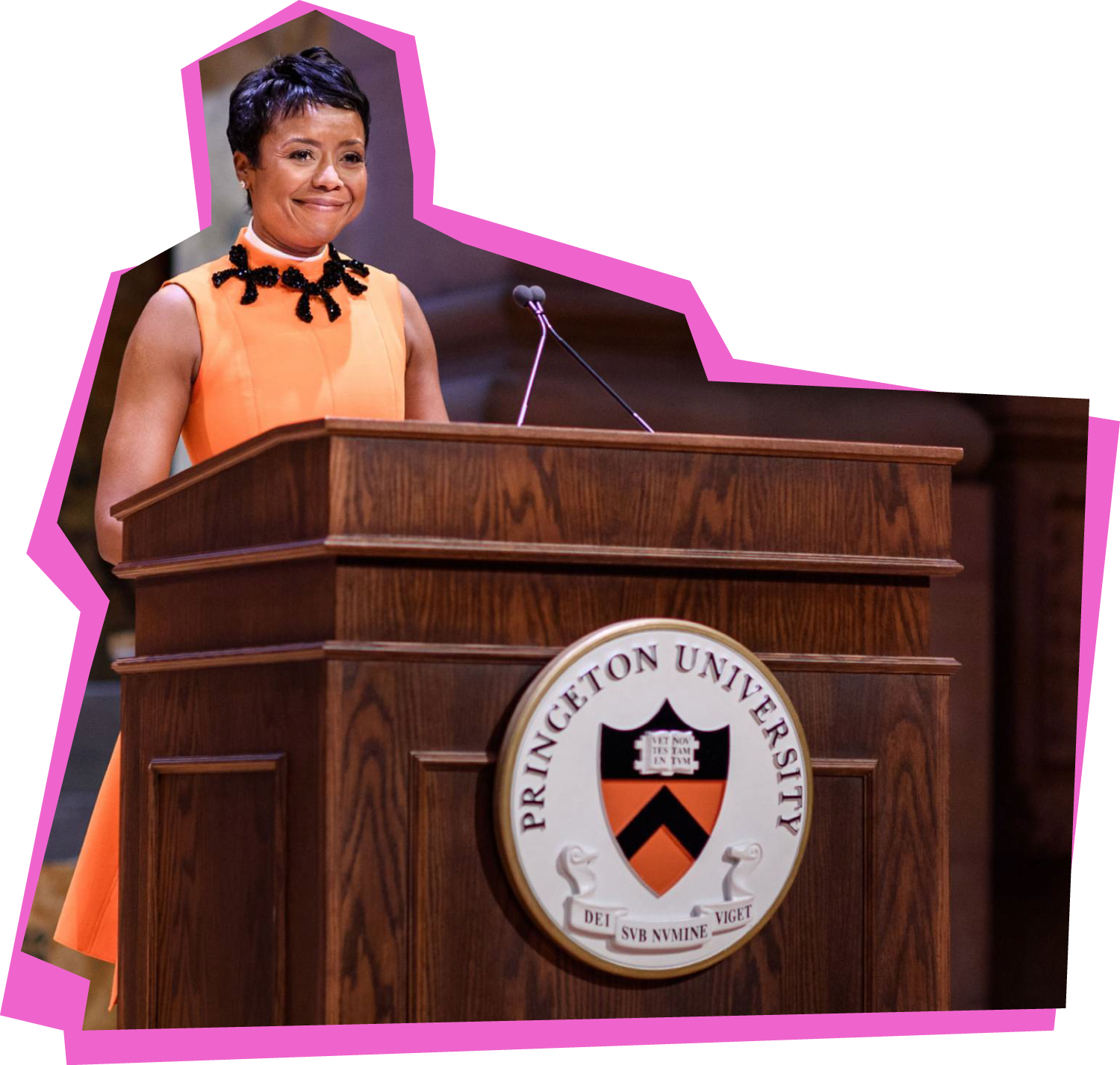 Mellody Hobson '91 giving an address at Alumni Day in 2019.